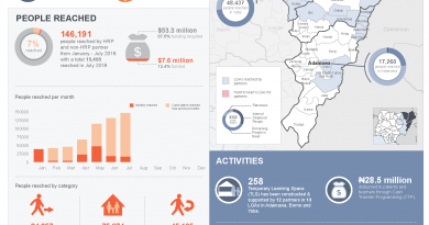Northeast Nigeria education response stats