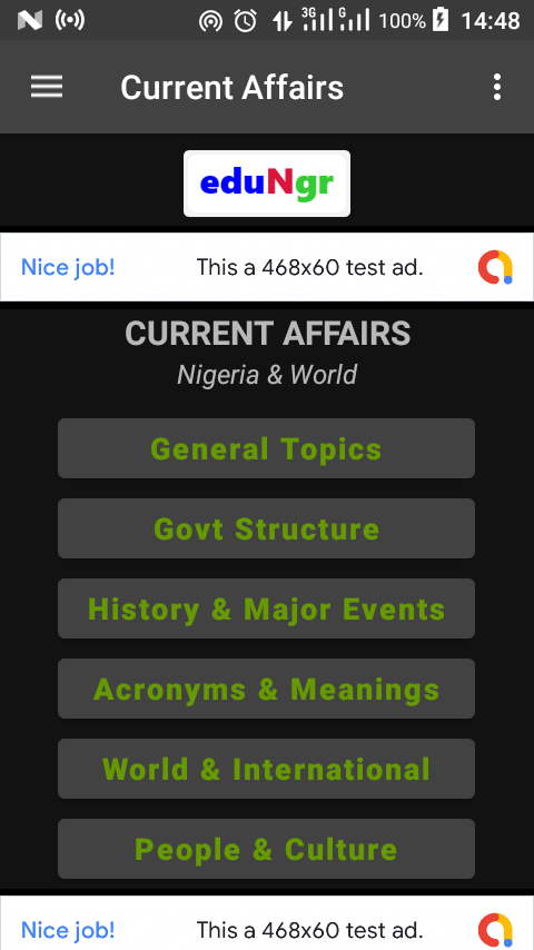 Current affairs app
