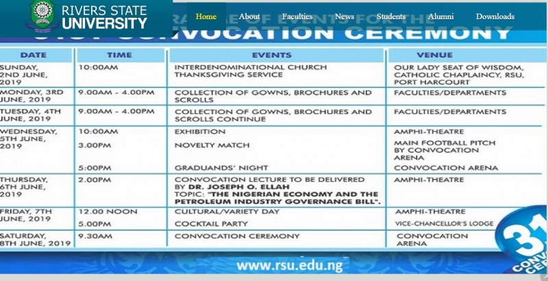 RSUT convocation 2019