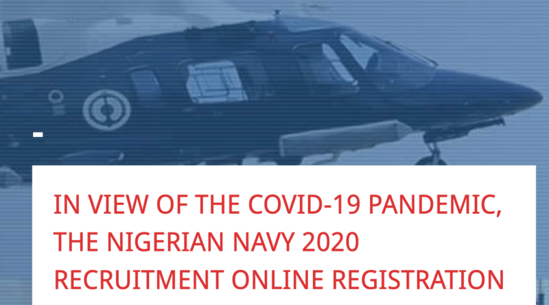 Nigerian navy recruitment suspended