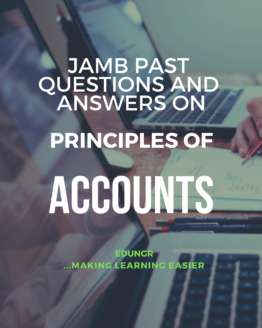 JAMB accounts past questions