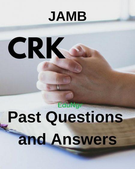 JAMB CRK past questions
