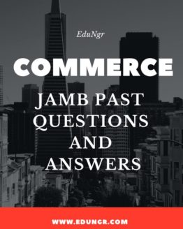 JAMB commerce past questions