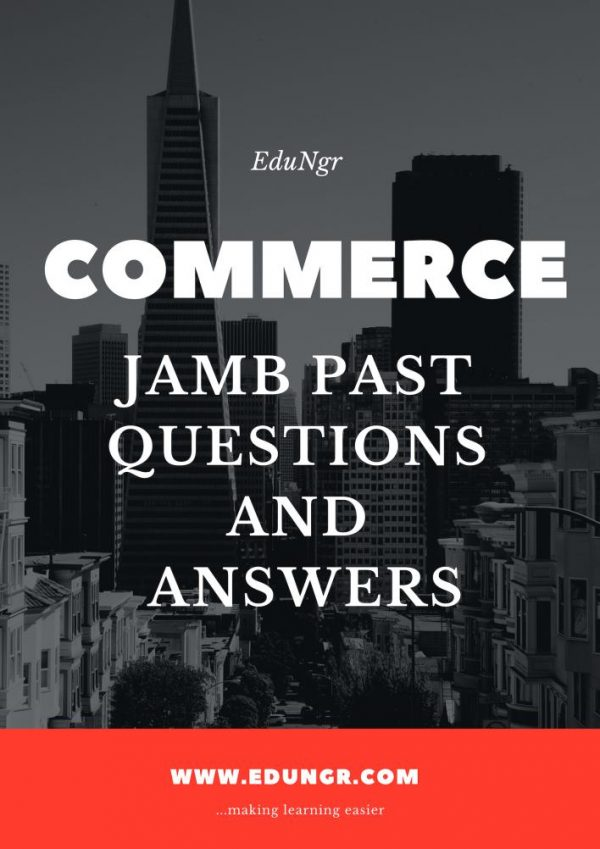 JAMB commerce past questions