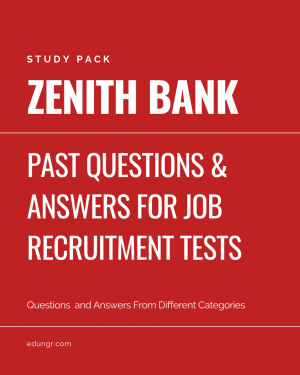 Zenith bank past questions book cover